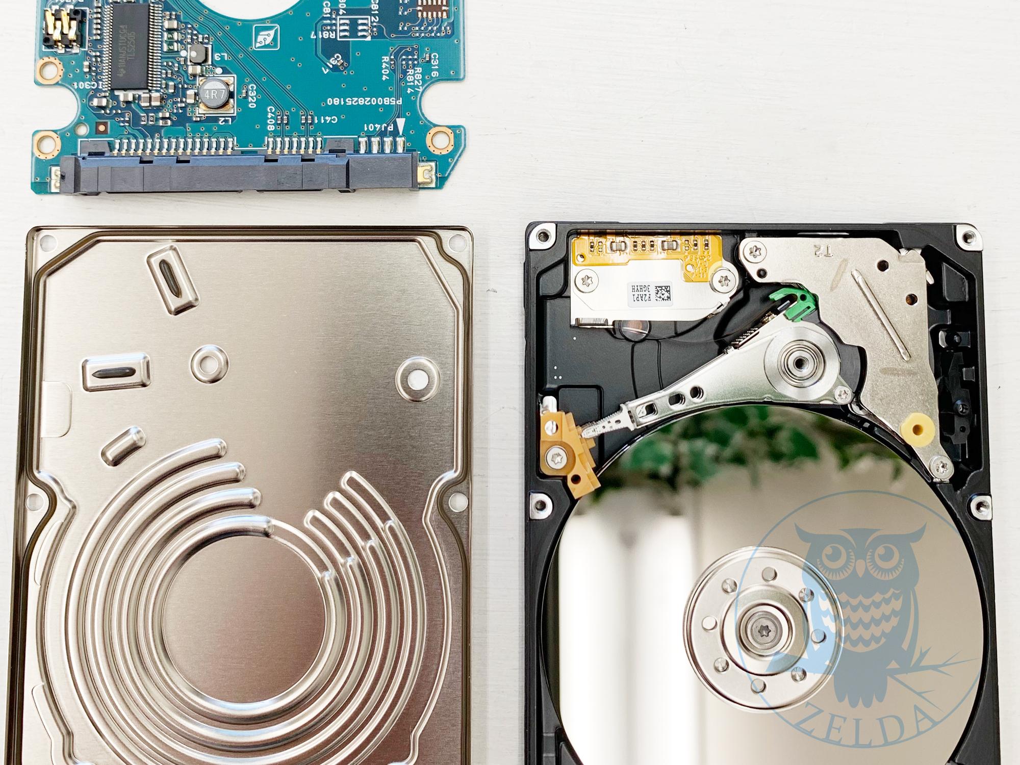ハードディスクを分解(ノートパソコン用)